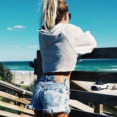 high waisted jean shorts #short #trend