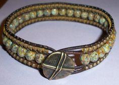 Triple Row AND Multi Wrap Leather Bracelet Tutorial by 4petessake