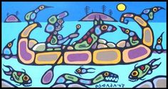 Great Journeys of the Ojibway:: Norval Morrisseau