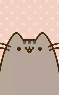 Cartoon Wallpaper, Wallpaper Gatos, Cat Wallpaper, Kawaii Wallpaper, Wallpaper Backgrounds, Iphone Wallpaper, Chat Kawaii, Kawaii Cat, Chat Pusheen