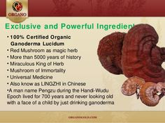 Ganoderma Lucidum - Experience the undiluted natural vitality of Organo Gold's Ganoderma lucidum. To order our Healthy, Organic products or to join the team, and start your business. Please visit our website bellow: www.ogstarp.myorganogold.com