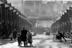 Colin Jones - A street off Scotswood Road, Benwell, Newcastle, Famous Pictures, Old Pictures, Old Photos, Vintage Photos, Swinging London, George Orwell, City Photography, Vintage Photography, Glasgow