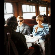 Andrew Loog Oldham And And Brian Jones On A Train