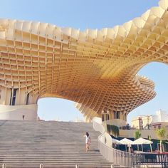 Seville's Metropol Parasol, modern architecture in between streets full of tradition. Photo courtesy of sabzwong on Instagram.
