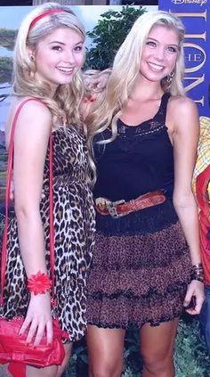 Lovely photo of Stefanie Scott and Allie DeBerry. Sal P