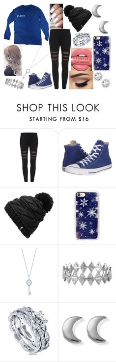 """""""OOTD-Friday, December 16"""" by kenziebandgeek ❤ liked on Polyvore featuring Converse, Jeffree Star, The North Face, Casetify, Tiffany & Co., Bony Levy, BERRICLE and ChloBo"""