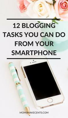 Ever notice that your littles a sixth sense for when you are on the computer? It can make working from home tricky! Here are 12 blogging tasks you can do from your smartphone. Click through to learn these ninja skills that will help you get more done and be a more productive blogger.