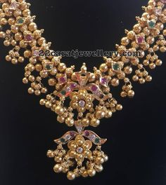 Gold Muvvalu Haram by Bhavani Jewellers