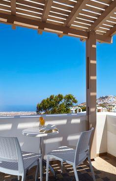 Summer Sky in Pyrgos, Santorini, Greece