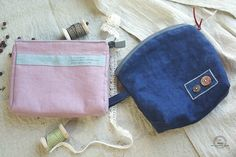 DIY Zipper Jeans Makeup Bag Tutorial.