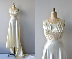 Rallentando wedding gown  vintage 1930s wedding by DearGolden