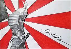 Kevin Mühlfort: Bushido   Aquarell und Copic auf Papier. 2016 Bushido - Der Weg des Kriegers. Die japanischen Samurai haben mich schon immer fasziniert und früher oder später kommt das Thema immer wieder in mein Bewusstsein.