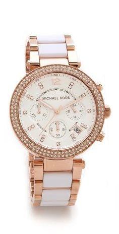 bcb87f8f73a2af Two toned Michael Kors watch Chronograph, Michael Kors Watch, Michael Kors  Outlet, Handbags