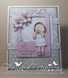 """made by femke niessen for MFTWSC132. I used several dienamics and the Pure Innocence """"little shutterbug"""" stamp. paper is from maja design."""
