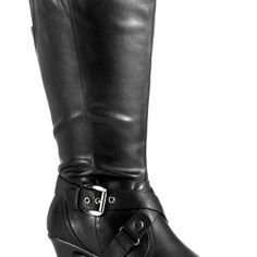 Carson Tall Heeled Boot-Wide Width Boots-Avenue