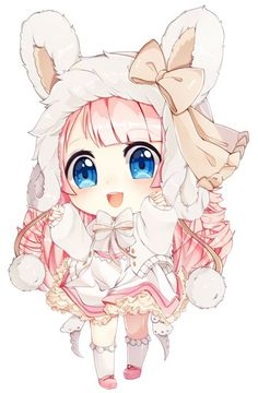 Grafika anime, chibi, and kawaii Kawaii Anime Girl, Chibi Kawaii, Manga Kawaii, Loli Kawaii, Cute Anime Chibi, Manga Anime, Anime Art, Chibi Bunny, Arte Do Kawaii