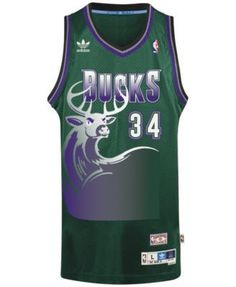 adidas Men s Ray Allen Milwaukee Bucks Swingman Jersey - Black XL Vintage  Basketball Jerseys e07654281