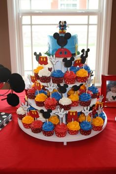 Mickey Mouse Clubhouse Birthday Ideas - Cupcake Toppers