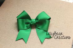 Green Boutique Hair Bow  Small Green Hair Bow  by LillyBearCreations, $5.50