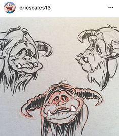 Brian Froud, Jim Henson, Brush Pen, Goblin, Character Design, Cartoon, Illustration, Instagram, Patterns