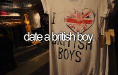 Ter um encontro com uma garota britânica
