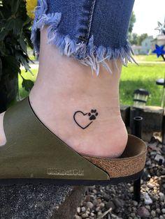 Pawprint Tattoo - Tattoos - - Diet - Fashion - Woman's And Cute Tiny Tattoos, Dream Tattoos, Girly Tattoos, Mom Tattoos, Little Tattoos, Pretty Tattoos, Beautiful Tattoos, Tribal Tattoos, Small Tattoos