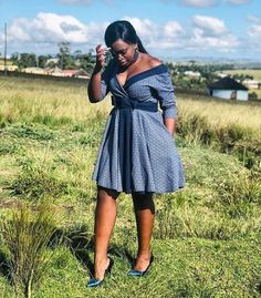 Customary Shweshwe Dresses can be beat whenever of the week, either to task for coincidental Fridays South African Dresses, African Print Dresses, African Dresses For Women, African Print Fashion, African Wear, African Attire, African Fashion Dresses, African Clothes, Ankara Fashion