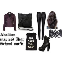 Abaddon inspired high school outfit