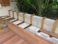 Créer un banc dans ma terrasse en bois exotique