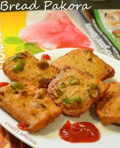 How to make Bread Pakora / Fritter Recipes / Indian Snacks Recipes | Tasty Appetite