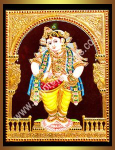 Krishna : Tanjore Paintings!, Traditional Tanjore Paintings, Oil Paintings, Reverse Glass Paintings, Stain Glass Paintings, Gift Articles and All interior solutions.