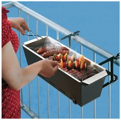 Innovative Products | Handrail Grill | 15 Innovative Products That Are Total Game Changers | From Buzzfeed