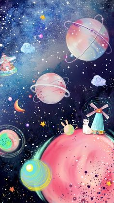 Source by Nicsdurante Outer Space Wallpaper, Planets Wallpaper, Iphone Background Wallpaper, Cat Wallpaper, Scenery Wallpaper, Galaxy Wallpaper, Pastel Color Wallpaper, Aesthetic Pastel Wallpaper, Colorful Wallpaper