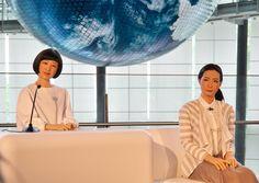Robôs a trabalhar num museu japonês - High-Tech Girl    Kodomoroid e Otonaroid