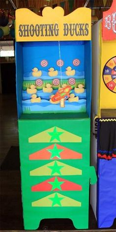 cardboard carnival booths by amparo