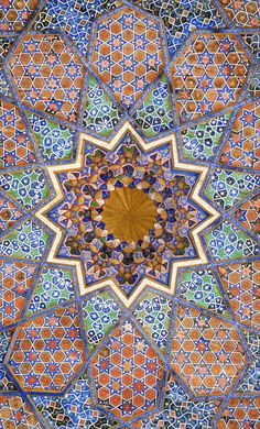 Mosque ceiling, Ouzbekistan