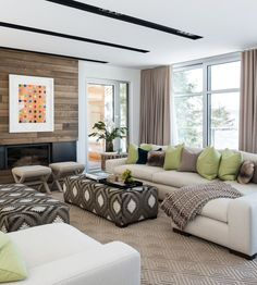 Modern House in Montreal, design, décor, interior, Canada, Quebec, house, cozy, living room