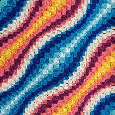 Ravelry: pattern by Sany (Sanita Brensone) C2c Crochet, Crochet Stitches, Crochet Hooks, Free Crochet, Crochet Squares, Crochet Ideas, Crochet Baby, Knitted Afghans, Crochet Blanket Patterns