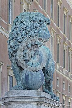 Lion Statue Stockholm - Download From Over 34 Million High Quality Stock Photos, Images, Vectors. Sign up for FREE today. Image: 56652449