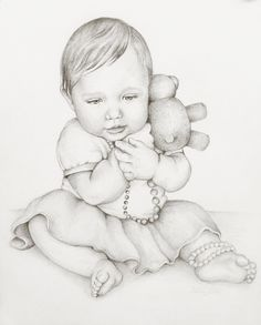 Pencil Portrait Mastery - Custom Portrait Drawing, 8x10 Portrait of One Child, Affordable Pencil Commission Portrait. $38.00, via Etsy. - Discover The Secrets Of Drawing Realistic Pencil Portraits