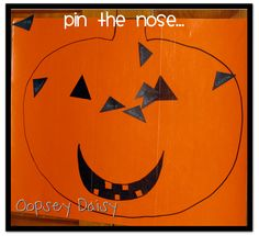 Pin the nose on the jack-o-lantern