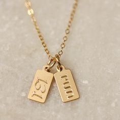 13.1 Run Tag Necklace - Erica Sara Designs