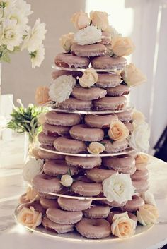Serve donuts or chocolate covered strawberries instead of traditional wedding cake.