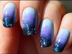 Moon n star Gradient Nails!