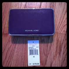 Michael Kors Elsie Clutch Grape Michael Kors Elsie box clutch in grape. Silver hardware. Comes with removable silver chain and Michael Kors tag. Paid $178. Price is firm! Michael Kors Bags Clutches & Wristlets