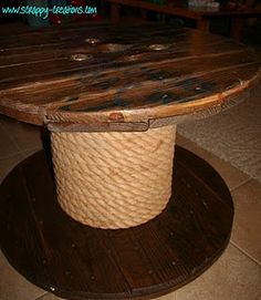 Another spool table...