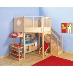 This is cute... we are looking at a similar idea for Kadence, only it would be a playhouse underneath ;)