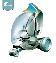Futuristic Vehicle, Electric Dauphin is Designed to Run Almost Noiselessly For As Far As 300 Kilometers