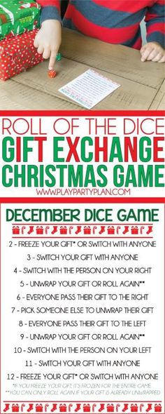 Roll The Dice Gift Exchange Games Valentines Day Gift Christmas