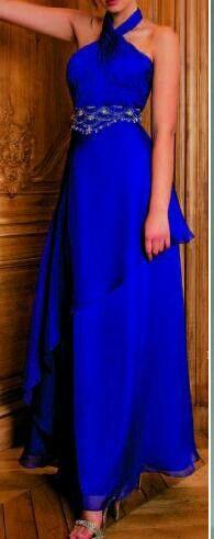 Vestidos de noche en azul electrico